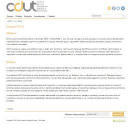 Site de prezentare: CDUT