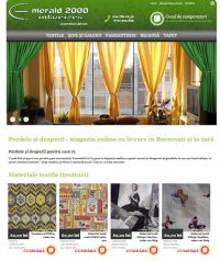 web design magazin online perdeledraperii.ro pe platforma e-commerce E-Media