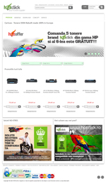web design magazin online hotclick.ro pe platforma e-commerce E-Media